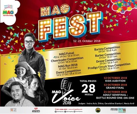 MAG Festival 2018 diselenggarakan di Mal Artha Gading pada 12-21