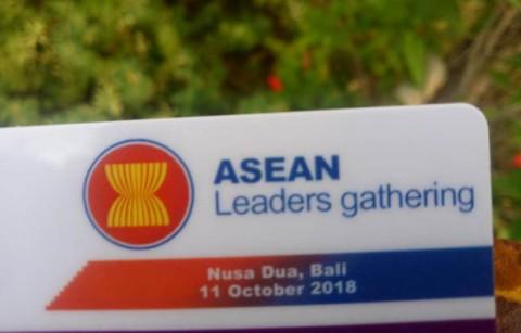 Pertemuan ASEAN Leaders gathering berlangsung di Nusa Dua, Bali.
