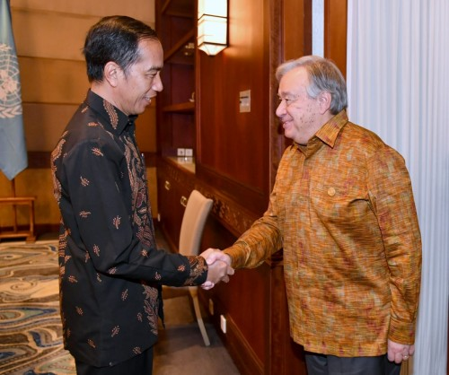 President Joko Widodo and United Nations Secretary General