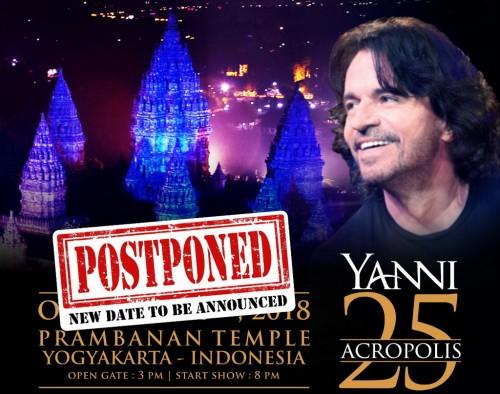 Konser Yanni di Prambanan Orchestra ditunda (Foto: dok. Rajawali