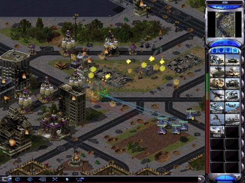 Game klasik Command & Conquer Red Alert.