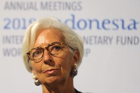 Direktur Pelaksana IMF Christine Lagarde (SONNY TUMBELAKA/AFP)