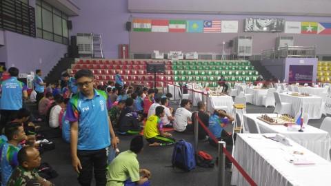 Venue para catur jadi tempat Salat Jumat atlet hingga volunteer