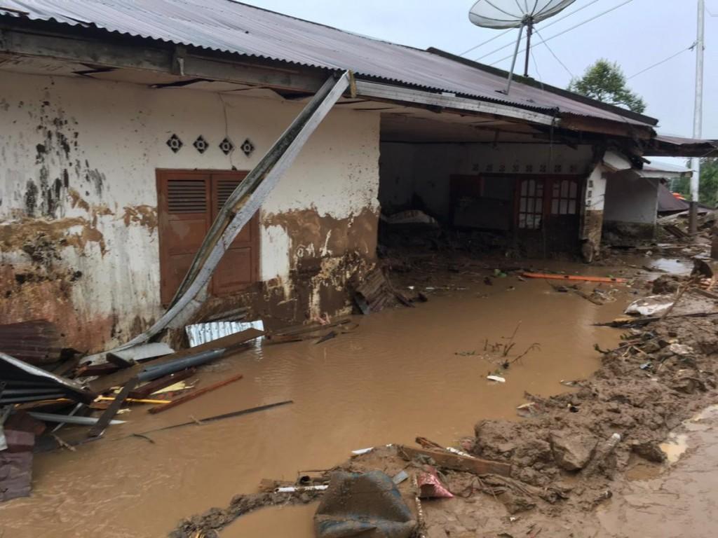 Banjir di Tanah Datar, Sumatera Barat. BNPB