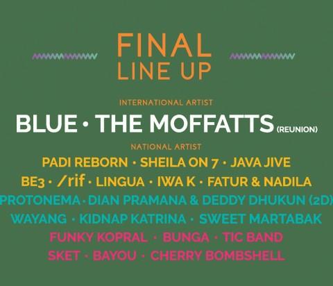 The Moffats, Blue hingga Sheila on 7 Meriahkan Tahun Keempat The 90's Festival