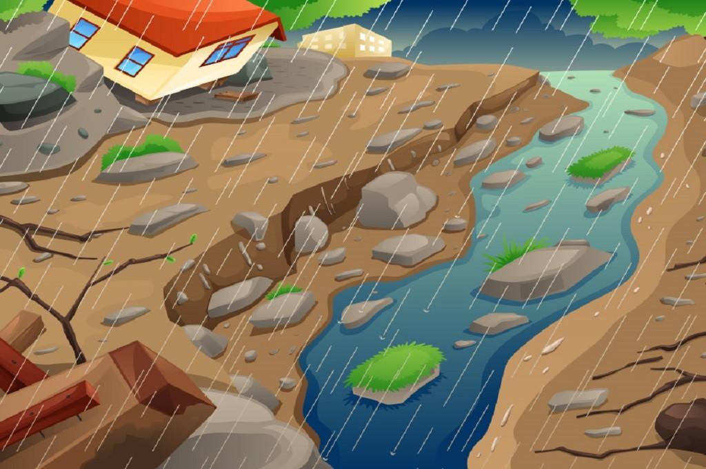 Ilustrasi banjir dan longsor/Medcom.id