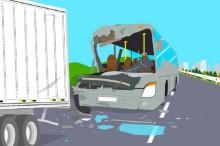 7 Orang Tewas Akibat Bus Tabrakan di Boyolali