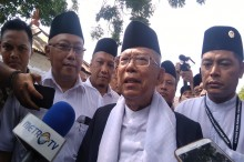 Ma'ruf Amin Temui Raja Keraton Yogyakarta