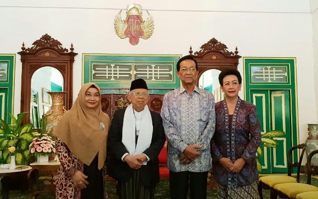 Ma'ruf Amin and Sri Sultan Hamengkubuwono X