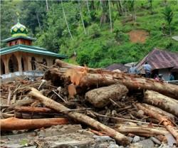 Korban Banjir Madina Diungsikan ke Sekolah