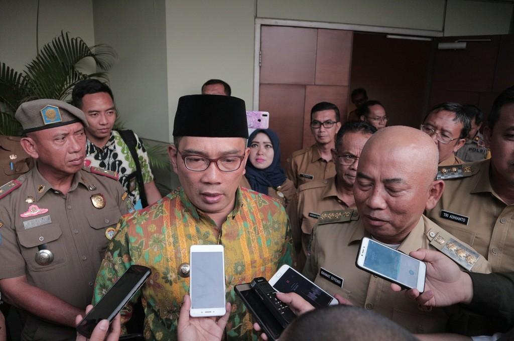 Gubernur Jabar Ridwan Kamil berkunjung ke Bekasi, Senin, 15 Oktober 2018, Medcom.id - Antonio