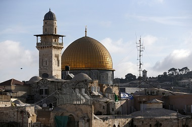 Dome of the Rock di kompleks Masjid Al-Aqsa. (Foto: AFP)