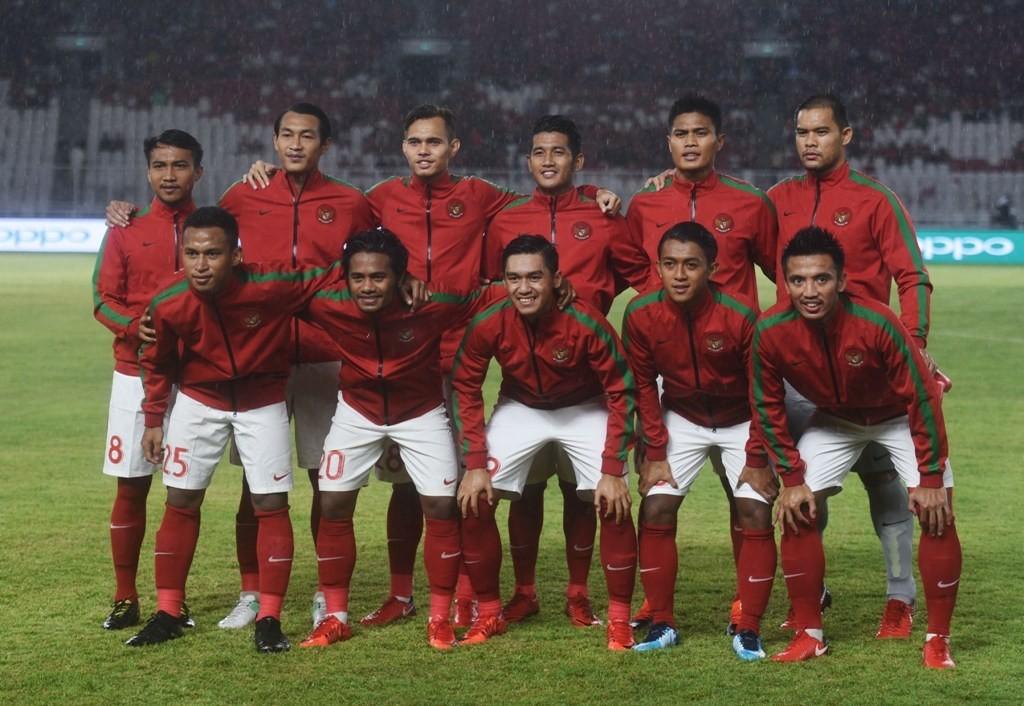 Skuat TImnas senior Indonesia saat laga uji coba melawan Islandia di Stadion GBK (Foto: medcom.id/Kautsar Halim)