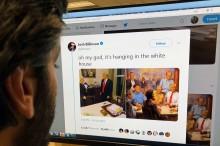 Pajang Lukisan Aneh di Gedung Putih, Trump Dicibir