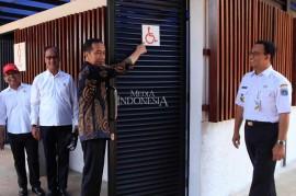 Jokowi Tinjau Fasilitas bagi Disabilitas di GBK