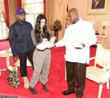 Kanye West dan Kim Kardashian Beri Hadiah untuk Presiden Uganda