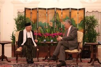 Kiai Ma'ruf Bertemu PM Lee di Istana Singapura