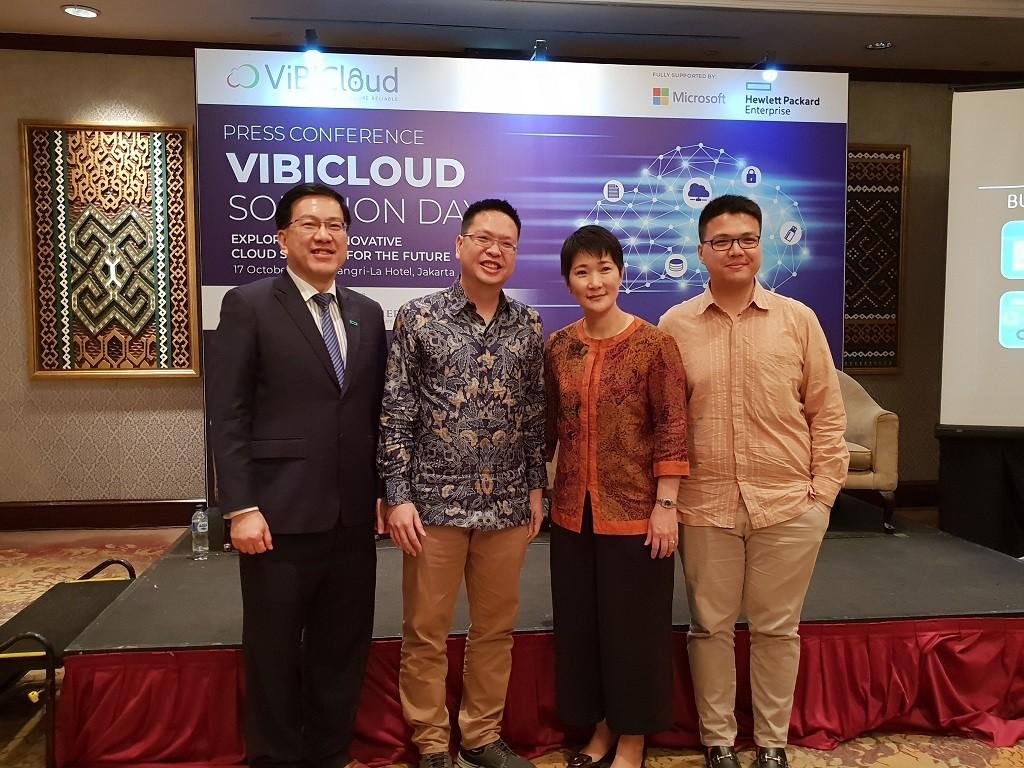 Peluncuran solusi anyar dari ViBiCloud di Jakarta, Rabu 17 Oktober 2018