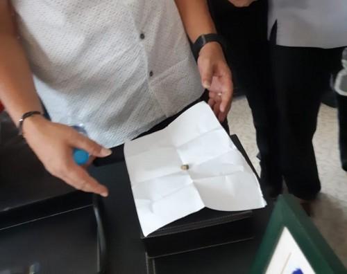 Proyektil peluru yang ditemukan di ruang Effendi Simbolon - Foto: dok. Effendi Simbolon.