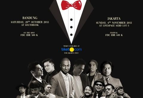Konser The Gentlemans Indonesia Hadirkan Afgan Glenn Fredly