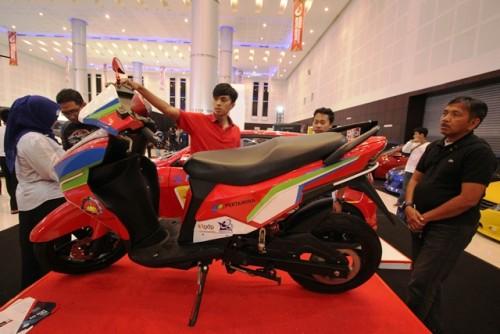 Motor listrik Gesit karya mahasiswa ITS tampil dalam pameran