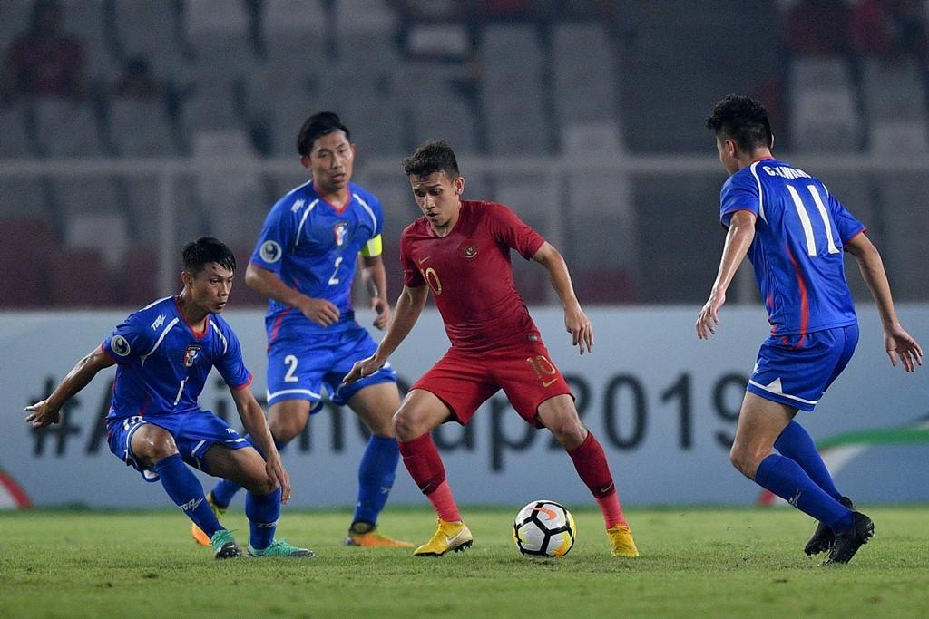 Timnas U-19 sukses mengalahkan Taiwan dengan skor akhir 3-1 (Foto ANTARA/SIGID KURNIAWAN )