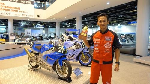Ardhi Sulistyo menjadi juara kedua di WTGP 2018. Yamaha