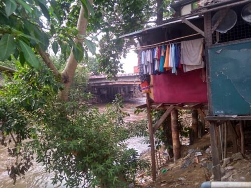 Pemukiman warga di Kelurahan Kebon Manggis, Matraman, Jakarta