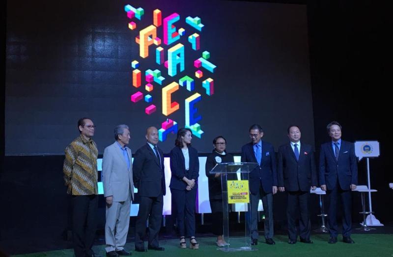 Menlu Retno Marsudi pada forum ASEAN Youth Peace and Tolerance di Hotel Sheraton, Jakarta, Jumat 19 Oktober 2018. (Foto: Sonya Michaella/Medcom.id).