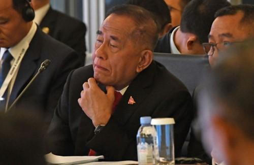 Menteri Pertahanan RI Ryamizard Ryacudu menghadiri pertemuan