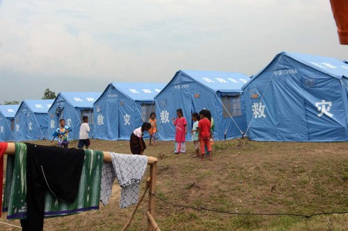 Korban Gempa Ditampung Sementara di Kamp Terpadu