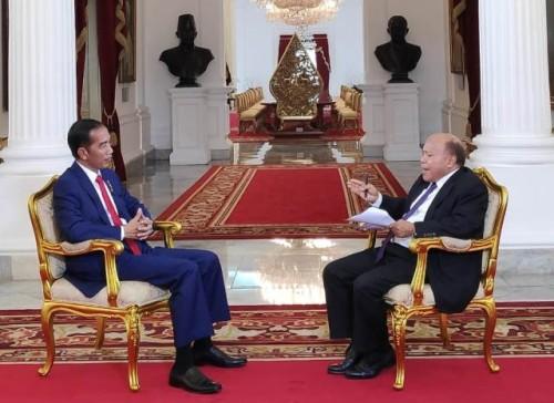 Presiden Jokowi dalam wawancara ekslusif dengan jurnalis Metro