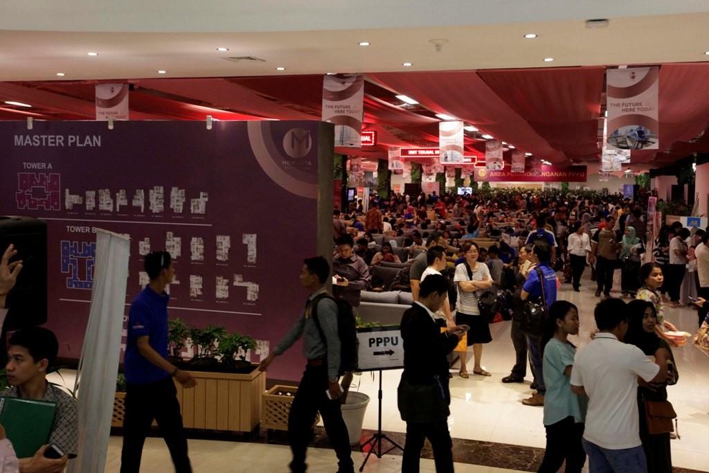 Suasana calon pembeli Meikarta beberapa waktu lalu. (FOTO: MI/Rommy Pujianto)