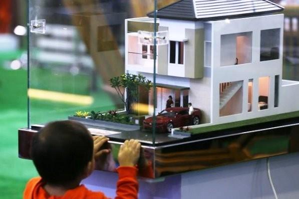Maket rumah mewah dalam sebuah pameran di Jakarta. Bisnis properti tiga tahun terakhir digerakkan tumbuhnya pasar rumah murah dibanding mewah.ilustrasi/MI/Ramdani