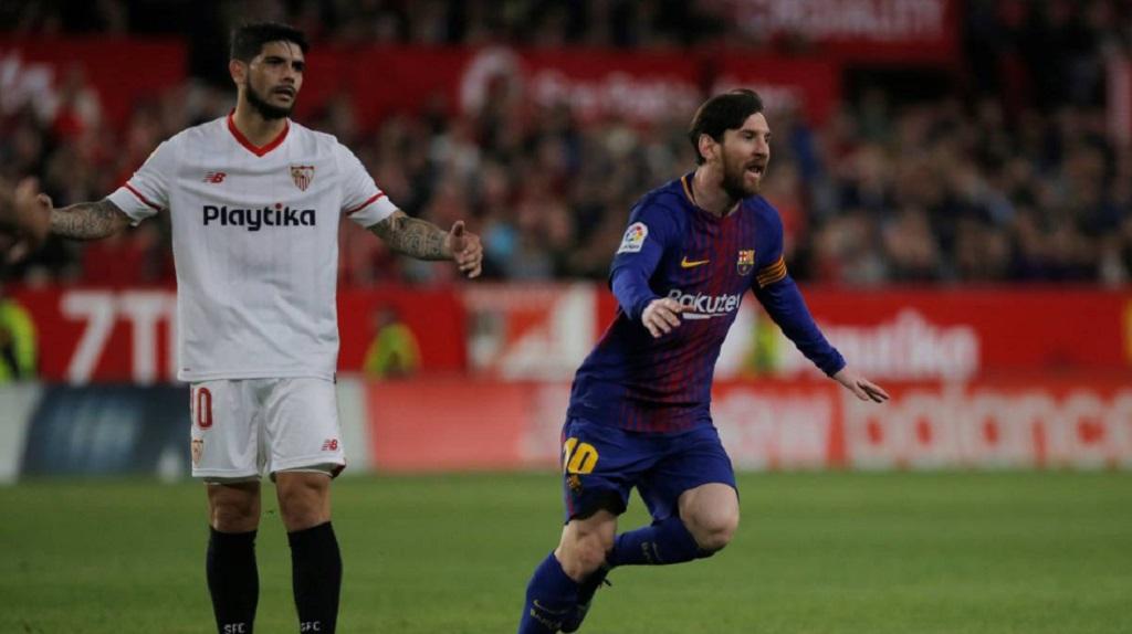 Pertemuan terakhir Barcelona kontra Sevilla (Twitter/152Football)