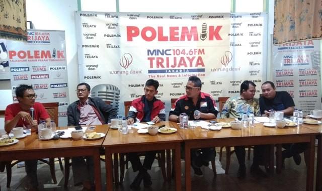 Diskusi Polemik bertajuk pemilih milenial dan masa depan bangsa. Foto: Medcom.id/Fachri Audhia Hafiez.