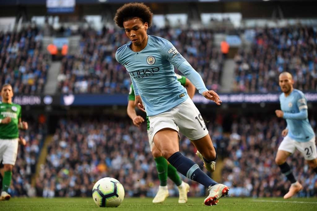 Winger Manchester City, Leroy Sane (AFP/Paul Ellis)