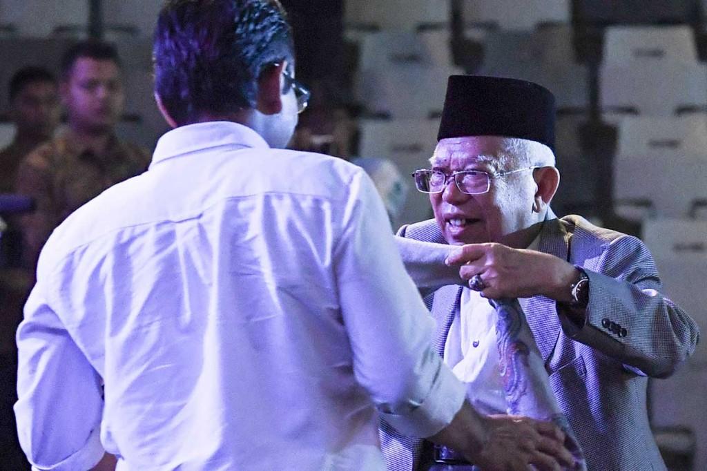 Sorban Ma'ruf Amin Dilelang untuk Korban Bencana