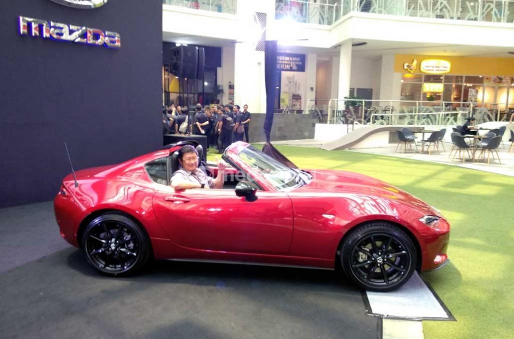 Mazda Roadster MX-5 baru tampil menawan. Medcom.id/M. Bagus Rachmanto