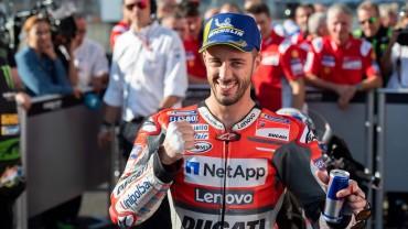 Marquez Merosot, Dovizioso Pimpin Balapan GP Jepang