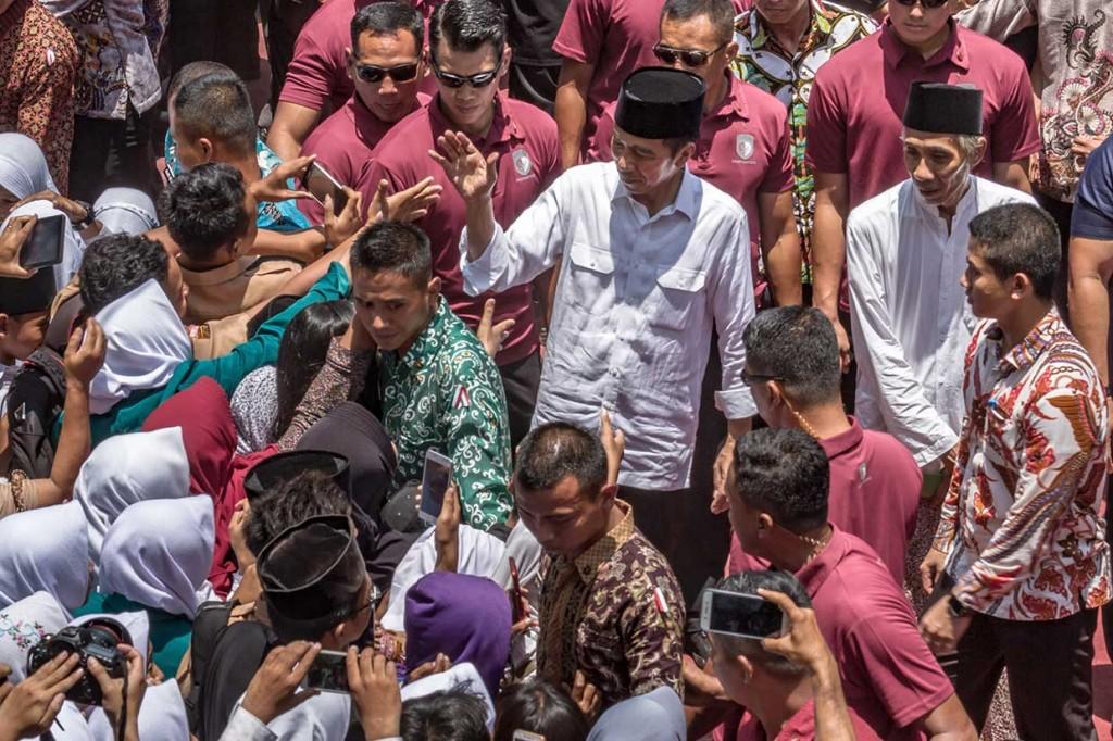 Presiden Silaturahmi dengan Santri Ponpes Al-Itqon Semarang