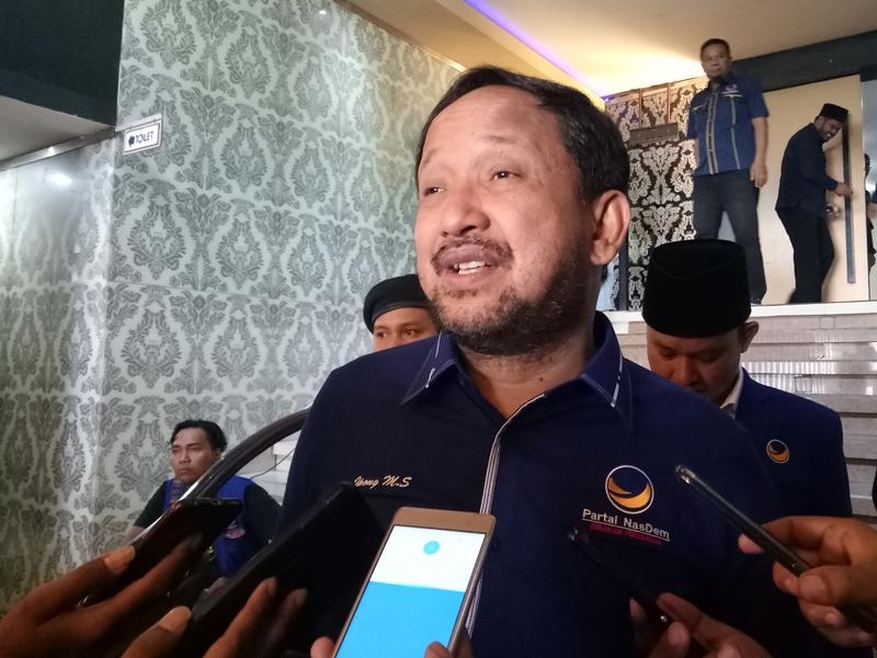 Ketua Badan Pemenangan Pemilu (Bappilu) Jawa Timur Partai NasDem, Ipong Muchlissoni. Medcom.id/Daviq Umar Al Faruq
