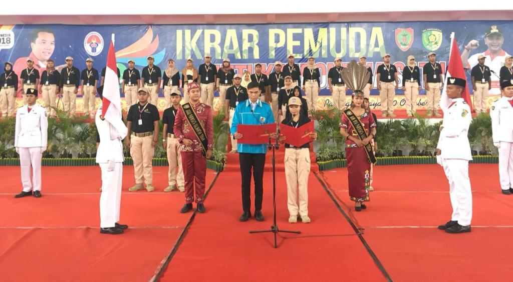 Acara Kirab Pemuda di Kalteng. Foto-foto: Istimewa