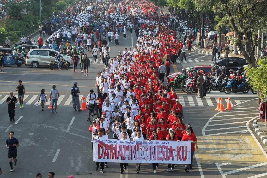 Ribuan Warga Ikuti Gerak Jalan Kerukunan Umat Beragama