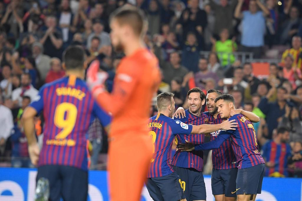 Kalahkan Sevilla, Barca Pimpin Klasemen Sementara La Liga