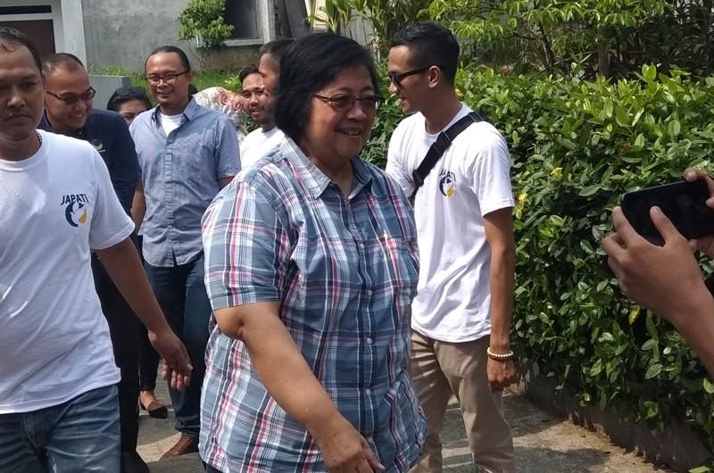 Menteri Lingkungan Hidup dan Kehutanan, Siti Nurbaya di Kota Bogor, Jawa Barat, Sabtu, 20 Oktober 2018. Medcom.id/ Rizky Dewantara.