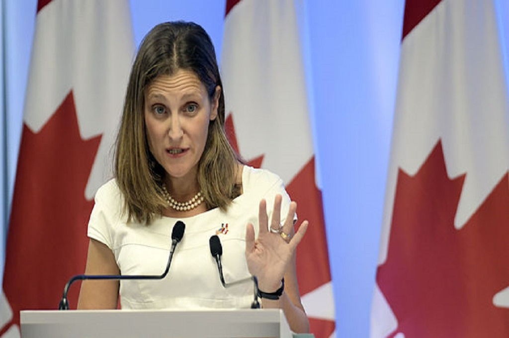 Menlu Kanada Chrystia Freeland. (Foto: AFP)
