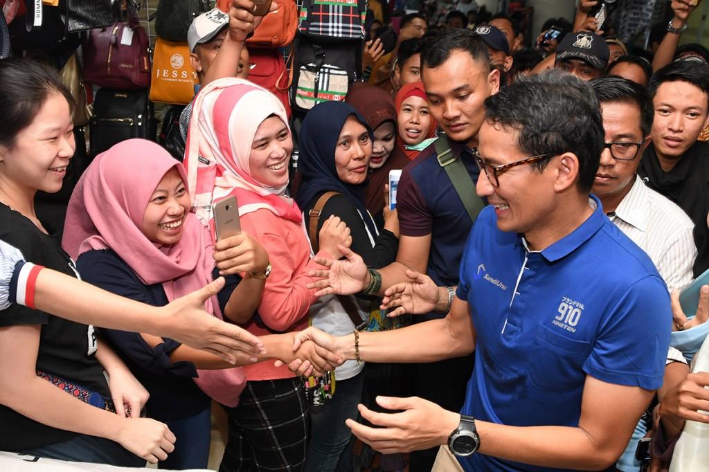 Sandiaga Uno Kunjungi Pusat Grosir Surabaya