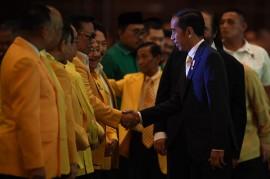 Jokowi Hadiri HUT ke-54 Golkar