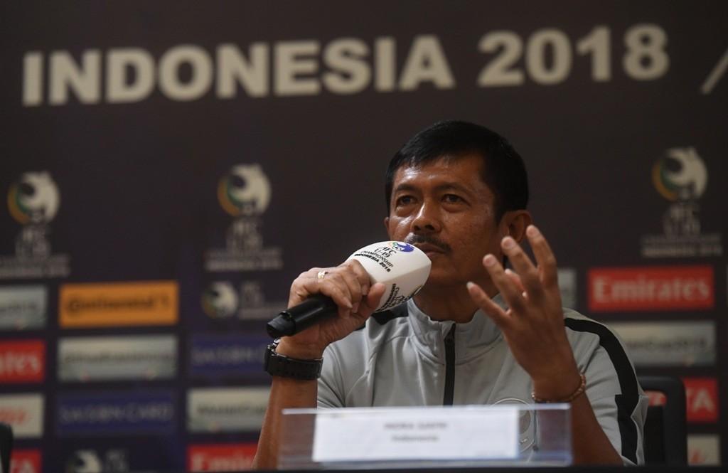 Pelatih Timnas U-19 Indra Sjafri (Foto Antara/Akbar Nugroho Gumay)